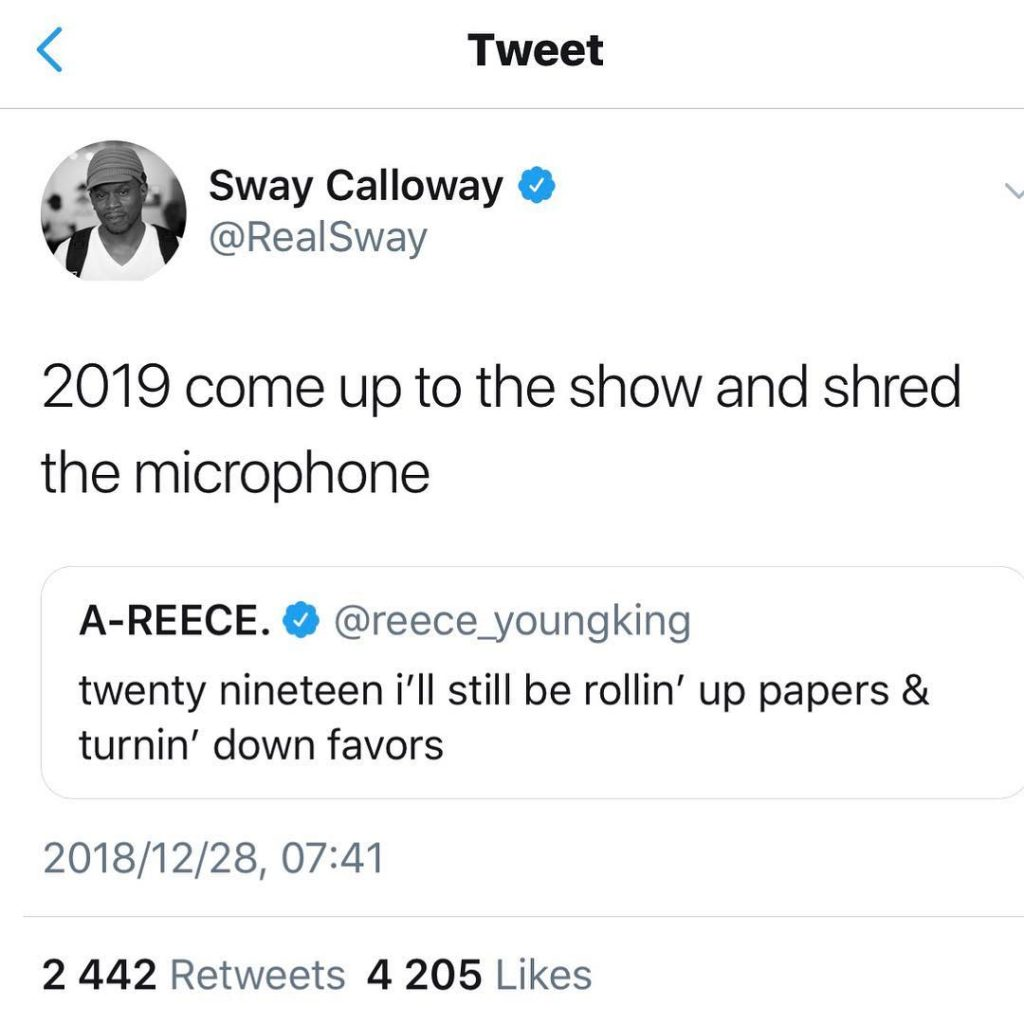 sway to A reece